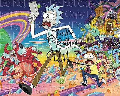 Rick and Morty signed Harmon 2 Roiland 8X10 photo picture poster autograph RP