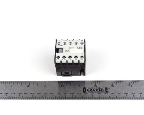 AEG LS07 Mini Contactor / Power Relay  LS07.10   3 Pole N.O. 24V Coil **TESTED**