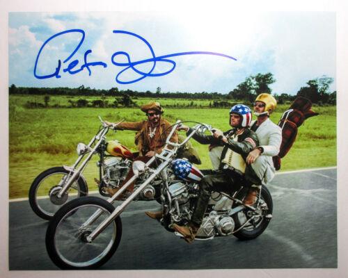 Peter Fonda Signed EASY RIDER 11x14 Photo w/ Hopper & Nicholson EXACT Proof COA