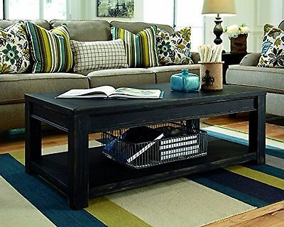 Distressed Wood Coffee Table (Timber Coffee Table Reclaimed Wood Rustic Distressed Barn Slab Natural Black)