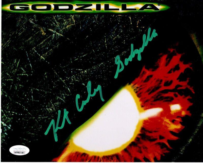 KURT CARLEY signed 8x10 Metallic Photo GODZlLLA 1998 Suit Actor JSA