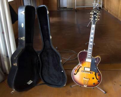 Cort Yorktown hollow body Jazz Guitar, Case & Amp. $750.00
