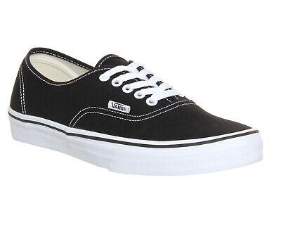 Mens Vans Authentic Black White Trainers Shoes