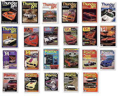Thunder Am Magazine Pontiac Firebird Trans Am 1969 1970 1973 1977 1978 1979 NOS