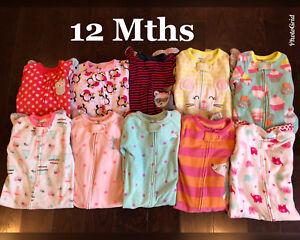 Girls Pyjamas 12 Months