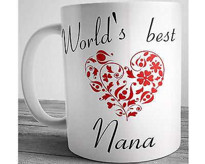 World's Best NANA Ceramic Coffee Mug 11 oz Gift for Grandma Mother's Day