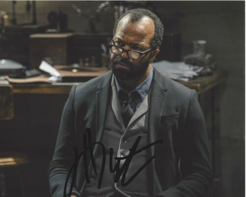JEFFREY WRIGHT SIGNED AUTHENTIC 'WESTWORLD' 8X10 PHOTO COA ACTOR CASINO ROYALE