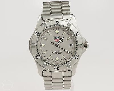 Men's TAG Heuer 2000 Series Steel Quartz Sport Watch Ref. WE111-R! Silver Dial!