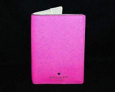 NWT KATE SPADE WLRU1811 Mikas Pond Saffiano Leather Passport Holder Snpdrgn Pink