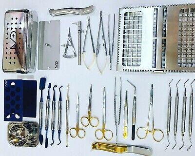 Dental Bone Implant (Dental PRF Box Kit Bone Surgery Instruments Implant Surgical 28 pcs Set)