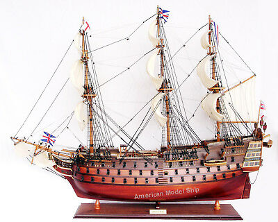 "HMS Victory Admiral Nelson's Tall Ship 27"" Handcrafted Wooden Ship Model NEW"