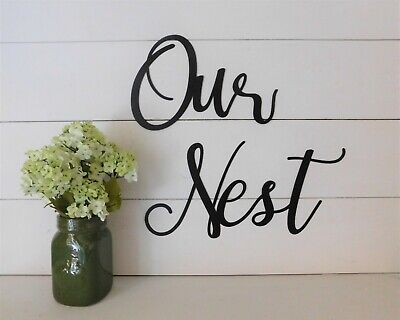 OUR NEST Quote Home Wall Art Decal Words Lettering Decor