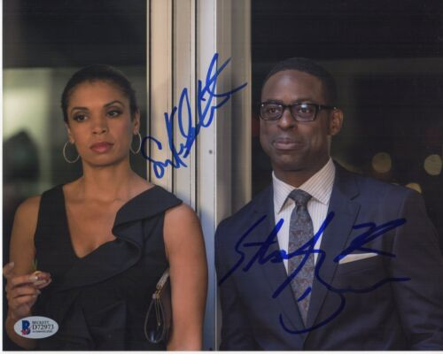 STERLING K BROWN SUSAN KELECHI WATSON SIGNED THIS IS US PHOTO 8x10 AUTO BAS COA