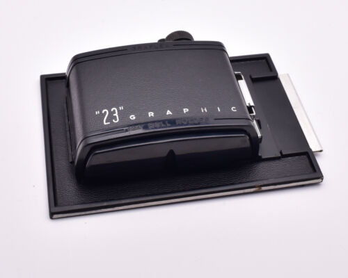 Graflex 23 Graphic 120 Roll Holder Film Back 4x5 8 Exposure Knob  (#8817)