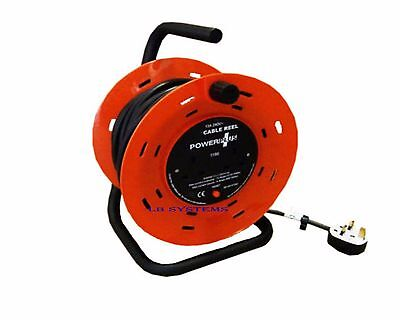 4 WAY HEAVY DUTY CABLE 50M METER EXTENSION REEL LEAD MAINS SOCKET 13 AMP NEW