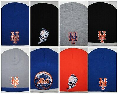 New York Mets Beanie ⚾️Knit Cap ⚾️Hat ⚾️Classic MLB Patch/Logo ⚾️8 Styles - Ny Mets Hats
