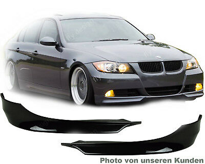 Para BMW e90 05-08 3er Parachoques Spoiler Delantero Gt Splitter Aletas Nuevo