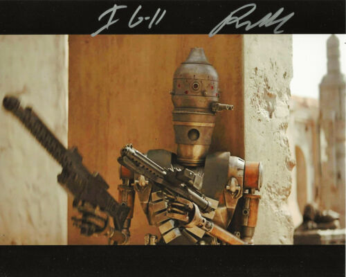 RIO HACKFORD SIGNED STAR WARS: THE MANDALORIAN IG-11 8x10 SHOW PHOTO w/COA PROOF