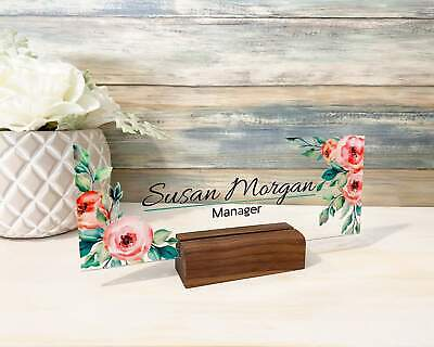 Desk Name Plate Name Sign Personalized Name Sign Office Decor Office Name Pl