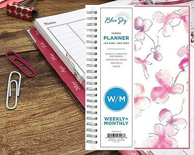Blue Sky 2020 Weekly Monthly Planner Flexible Cover Twin-wire Binding 5 X 8