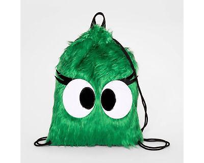 NWT Cat & Jack Kids Green Monster Plush Back pack Bag Backpack Halloween (Monster Halloween Backen)