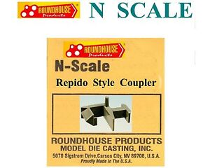 Lot04- N SCALE 50 PIECES RAPIDO STYLE COUPLER BY ROUNDHOUSE --NO CA SALES