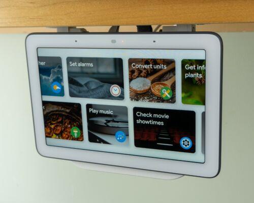 Google Nest Hub Under Cabinet Mount | 1st Gen & 2nd Gen Compatible