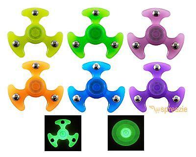 UFO Fidget Spinner Hand Spinner Toy Anxiety Stress Relief Focus GLOW IN THE DARK