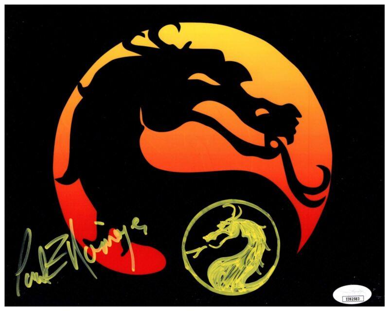 PAUL E. NIEMEYER signed & sketched 8x10 Photo MORTAL KOMBAT Logo Video Game JSA