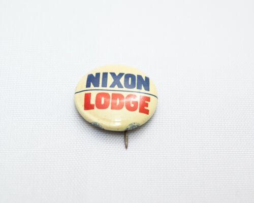 "Vintage 3/4"" Nixon   Lodge Presidential Campaign Pin Button"