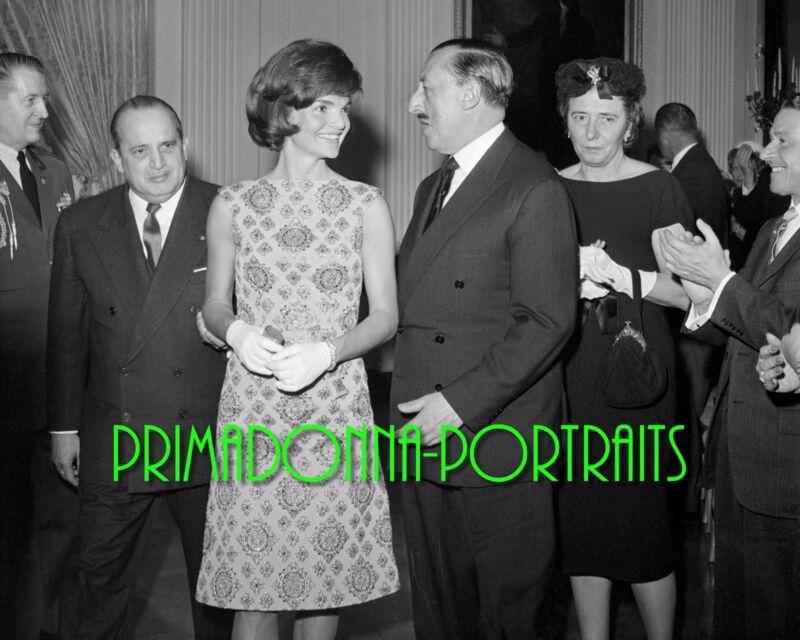 JACQUELINE KENNEDY ONASSIS 8X10 Lab Photo 1962 JFK WHITE HOUSE TOUR