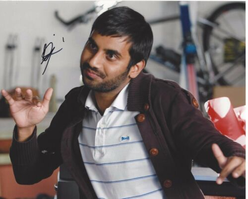 ACTOR AZIZ ANSARI SIGNED MASTER OF NONE 8X10 PHOTO W/COA STAND UP COMEDIAN