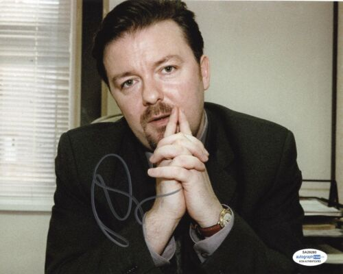 Ricky Gervais The Office Autographed Signed 8x10 Photo ACOA 2020-1