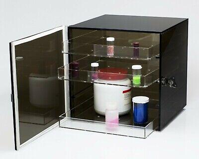 Bel-art Bronze Acrylic Desiccator Cabinet 0.82 Cu. Ft 12x12x12 Fast Ship