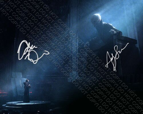 REPRINT 8x10 SIGNED AUTOGRAPHED PHOTO ADAM DRIVER & ANDY SERKIS STAR WARS SNOKE