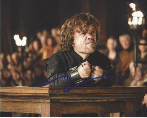 PETER DINKLAGE SIGNED GAME OF THRONES TYRION LANNISTER 8X10 PHOTO w/COA ACTOR