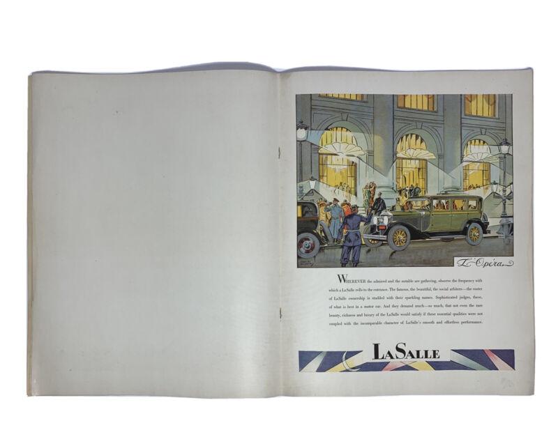 1928 LASALLE CADILLAC CAR AUTOMOBILE BROCHURE ORIGINAL