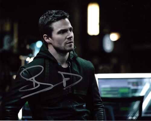 ACTOR STEPHEN AMELL SIGNED 'ARROW' 8x10 INCH PHOTO 2 W/COA TMNT OLIVER QUEEN