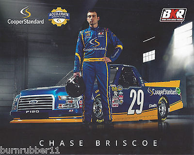 2017 Chase Briscoe  Cooper Standard   29 Nascar Cwts Truck Postcard
