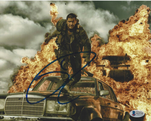 TOM HARDY SIGNED AUTHENTIC 'MAD MAX: FURY ROAD' 8x10 PHOTO 2 BECKETT COA BAS
