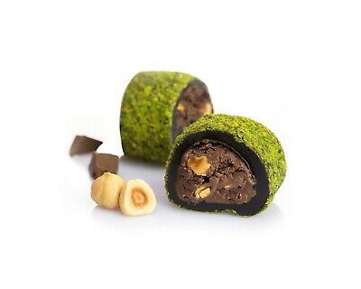 Chocolate Fat Free Brownie (Turkish Delight - Roll with Chocolate & Brownie Coated with Ground Pistachio  )