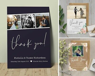 Personalised Wedding Thank You cards inc Envelopes + Photo](Photo Thank You Cards Wedding)