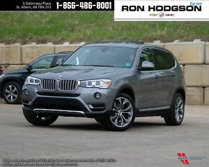 2015 BMW X3 xDrive28i awd loaded leather roof clean low km