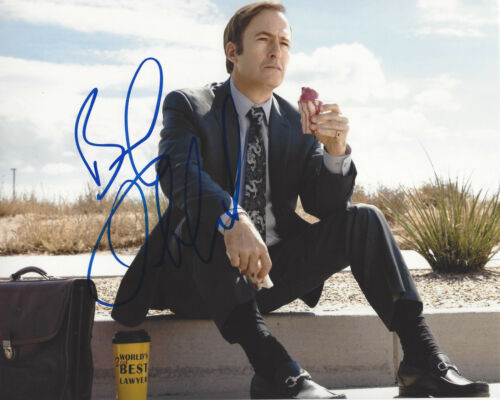 BOB ODENKIRK SIGNED AUTHENTIC 'BETTER CALL SAUL' 8X10 PHOTO C w/COA BREAKING BAD