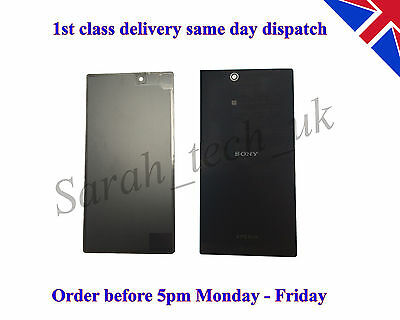 Sony Xperia Z ULTRA XL39H Battery back Cover Glass Panel With Adhesive Black  d'occasion  Expédié en Belgium