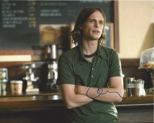 MATTHEW GRAY GUBLER SIGNED CRIMINAL MINDS 8x10 PHOTO C w/COA 500 DAYS OF SUMMER