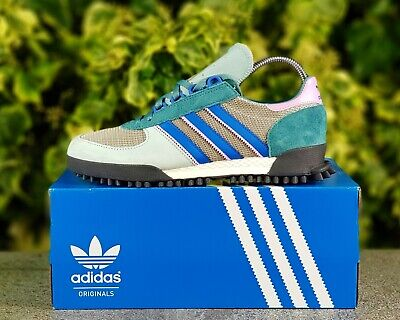 ❤ BNWB & DeadStock adidas originals ® Marathon TR Ash Green Trainers UK Size 7