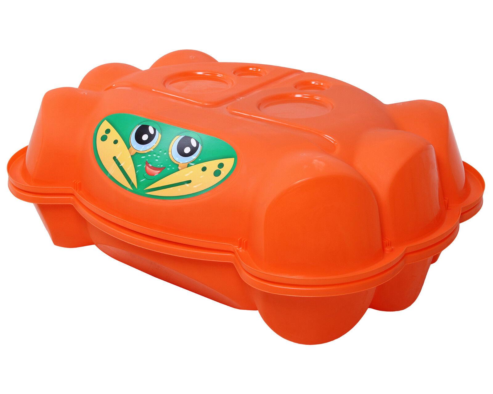 Sandkasten Krabbe mit Deckel Planschbecken für Kinder Sandkiste Buddelkasten