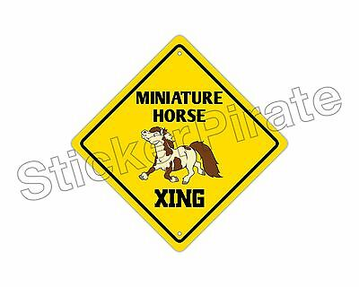 *Aluminum* Miniature Horse Crossing Funny Metal Novelty Sign 12