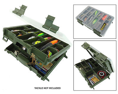 FISHING TACKLE BOX FOR LURES PLUGS SPINNERS HOOKS. SEA COARSE FISHING TACKLE BOX